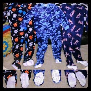 $⬇️  👦 NWOT's Boy's 4T Zip Sleepers 👦